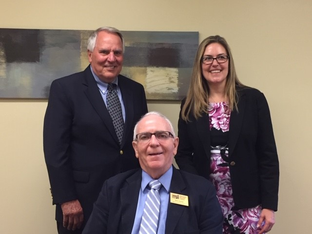 Dr. Terry Sinclair & Bob Gail, Interim Executive Director meet with Congresswoman Jennifer Wexton.